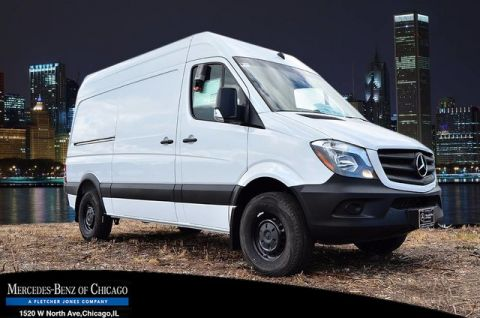 New Mercedes-Benz Sprinter Cargo Van Worker